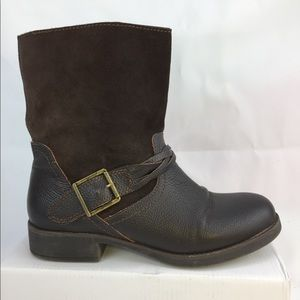 🤪SOLD!!Eddie Bauer Ankle Boot Brown Leather/Suede